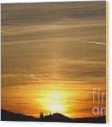 Beautiful Sunset 6.  2012 Wood Print