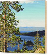 Beautiful Tahoe Wood Print