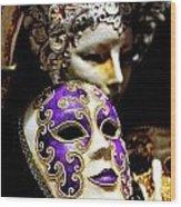Beautiful Venetian Masks Wood Print