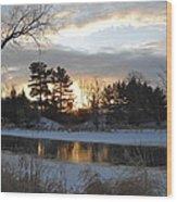 Beautiful Winter Dawn Wood Print
