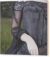 Beautiful Young Woman In Field Wood Print