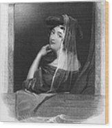 Beauty In Gondola, 1842 Wood Print