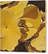Beauty In The Leaves Wood Print by Denise Ellis
