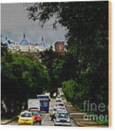 Beauty Of Avenida Solano In Cuenca Wood Print