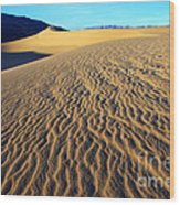 Beauty Of Death Valley Wood Print by Bob Christopher