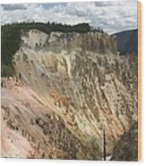 Beauty Of The Grand Canyon In Yellowstone Wood Print