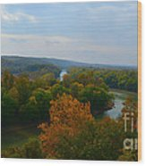 Beauty On The Bluffs Autumn Colors Wood Print