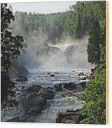 Beaver River In The Fog 2 Wood Print