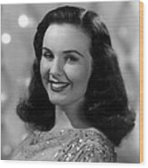 Because Of Him, Deanna Durbin, 1946 Wood Print
