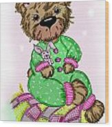 Becky Bear Wood Print