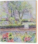Bed And Breakfast View Wood Print
