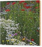 Bed Of Flowers Wood Print