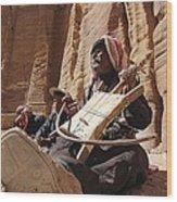 Bedouin Musician Wood Print by Dave Eitzen