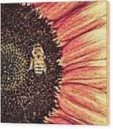 Bee Dazzled Wood Print
