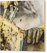 Bee Keeper Wood Print