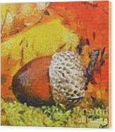Beechnuts Wood Print