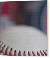 Beer And Baseball Wood Print