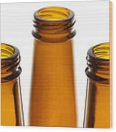 Beer Bottles 1 B Wood Print
