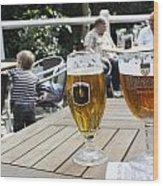 Beer-mania Wood Print