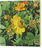 Bees Again Wood Print