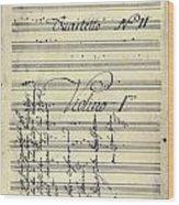 Beethoven Manuscript, 1799 Wood Print by Granger