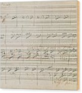 Beethoven Manuscript, 1806 Wood Print by Granger