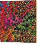 Begonia Leaf On Acid Wood Print