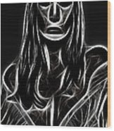 Behind A Mask Wood Print