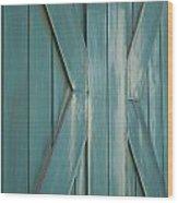 Behind Closed Doors Wood Print