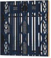 Behind The Cross Wood Print