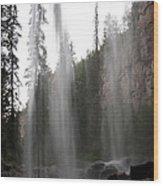 Behind The Falls2 Wood Print