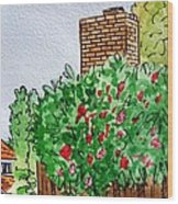 Behind The Fence Sketchbook Project Down My Street Wood Print
