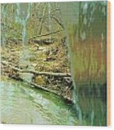 Behind The Waterfall Wood Print by Padre Art