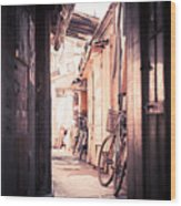 Beijing Hu Tong Alleys Wood Print