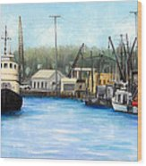 Belford Fishing Seaport Nj Wood Print