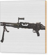 Belgian Fn Mag 7.62mm General Purpose Wood Print