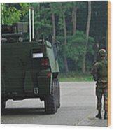 Belgian Infantry Soldiers Walk Wood Print