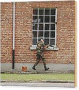 Belgian Soldiers On Patrol Wood Print
