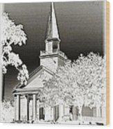Belin Umc Black And White Sabattier Wood Print