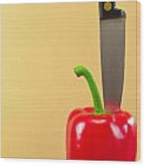 Bell Pepper Wood Print