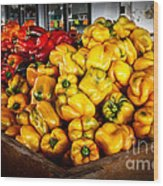 Bell Peppers Wood Print by Robert Bales