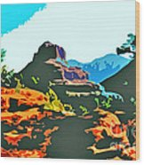 Bell Rock Sedona Arizona Wood Print