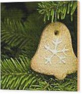 Bell Shape Short Bread Cookie Wood Print
