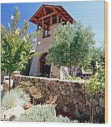 Bell Tower Of St Francis Winery Wood Print by George Oze