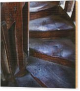 Bell Tower Steps II Wood Print by John  Bartosik