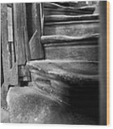 Bell Tower Steps1 Wood Print by John  Bartosik