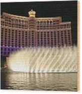 Bellagio Fountains 4 Wood Print by Charles Warren