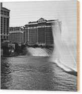 Bellagio Fountains II Wood Print