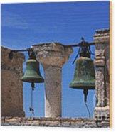 Bells Of Santorini Greece Wood Print