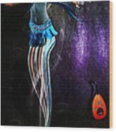Belly Dance Genie Wood Print by Vidka Art